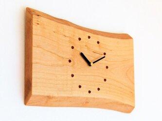 サクラの耳付き板の時計 6の画像