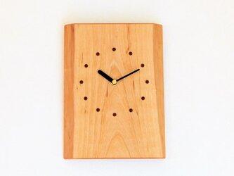 サクラの耳付き板の時計 7の画像