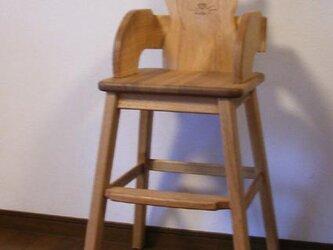 幼児用食卓椅子の画像