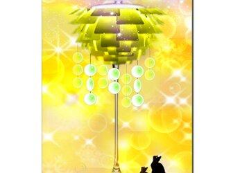 「しあわせのランプ」 ほっこり癒しのイラストポストカード2枚組No.692の画像