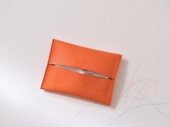 ポケットティッシュケース  [ヴェネーレ/orange]の画像