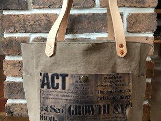 宅急便送料無料☆army duc square tote bag M beigeの画像