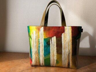 雲文様 袋帯リメイクMini Tote Bagの画像