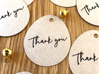 """ラッピングタグ""""Thank you""""<3枚セット>鈴付き【送料無料】の画像"""