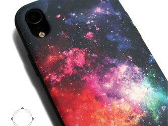 iphoneXRケース / iphoneXRカバー レザーケースカバー 宇宙 ギャラクシー/XRの画像