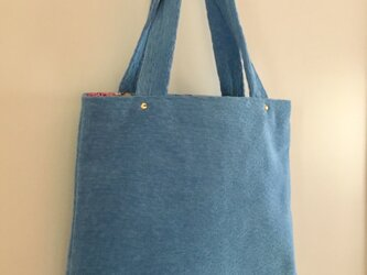 春bag:水色のお出かけトートの画像