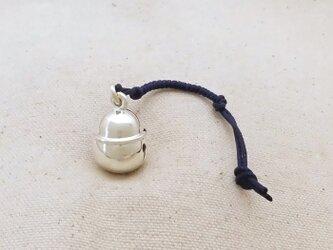 銀製の鈴 『 本坪型・大 』 (シルバー925) 根付・帯飾りの画像