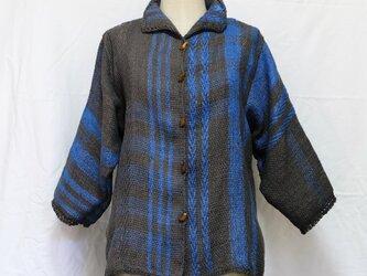 草木染め手織りジャケットの画像