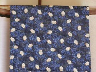 暖簾 のれん受注製作 幅広対応可 紺色ふくろう柄 暖簾以外の製作もの画像
