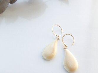 k18✼Makkoh pierced earrings 92018の画像