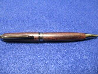 ブラジリアンローズウッド  蜜蝋ワックス 回転式ヨーロピアンボールペン 希少材の画像
