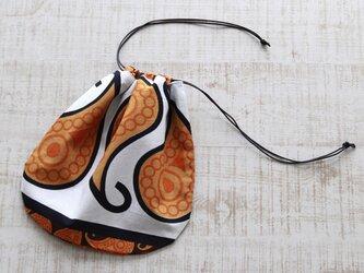 アフリカ布『カンガ』の巾着の画像