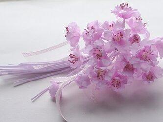 ピンクピンクの桜のコサージュE8の画像