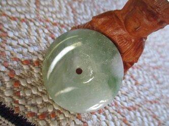 再販無し 持ち主の平安と幸せを願う 「平安」 手作り珠ミャンマー翡翠  5の画像