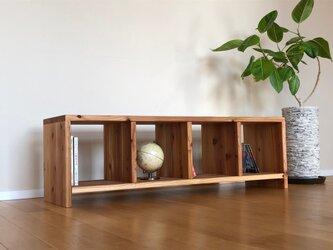 暖かな雰囲気の無垢材多目的シェルフ(小) | TV台 |本棚 の画像