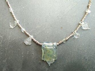ネックレス 175 ガラスとシルバーの画像