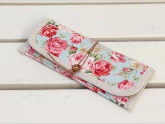 ぺたんこ長財布「Gran Rose」(b)の画像