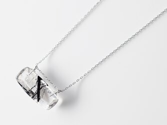天然石ネックレス/トルマリン イン クオーツの画像
