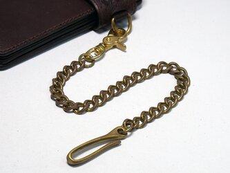 真鍮(ブラス)ウォレットチェーン:バレル加工済み 3.5mm 面取り 喜平(キヘイ)チェーンの画像