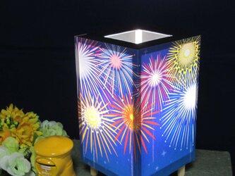 夢明かり≪花火の夜≫ 紙貼・豆形・LED 飾りライトの醍醐味を!!の画像