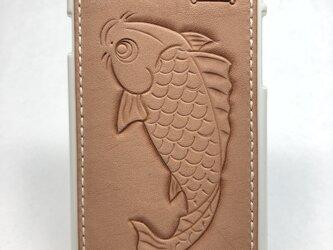 鯉の iPhoneレザーカバー(iPhone7・8対応)No.405の画像