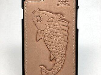 鯉の iPhoneレザーカバー(iPhone7・8対応)No.404の画像