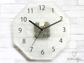 【受注生産】八角掛け時計 クリアの画像