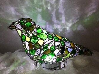 ジュエルナイト『夜界の鳥(M)』エメラルドグリーンの画像