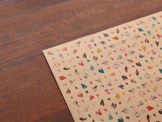 「ハート」のデザインペーパーの画像