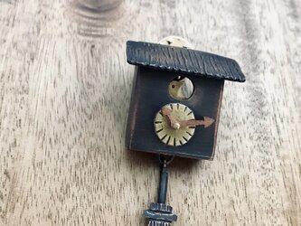 小さなカッコウ時計のブローチ③の画像