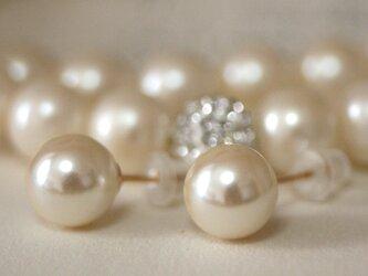 卒業式/入学式*2点セット 14kgfパールピアス ネックレス白 卒園式 入園式 ウエディング 結婚式 真珠 披露宴 ブライダルの画像