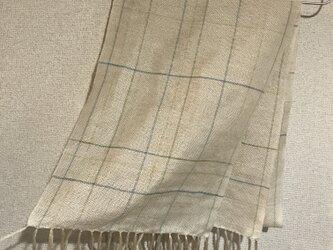 手織りストール W12の画像