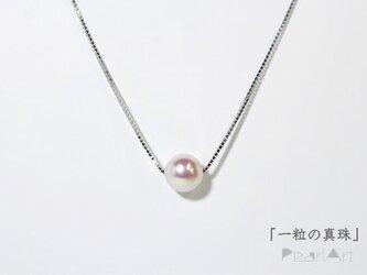 「ひと粒の真珠」ネックレス スライドチェーンの画像