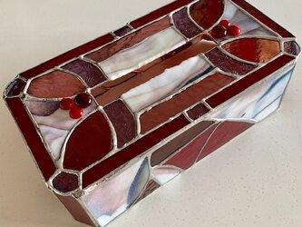 ガラス製ティッシュカバー 『ラズベリーアイスクリーム』 BayViewの画像