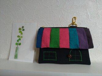 colorfulHouseポーチ(日本製リネン100%)の画像