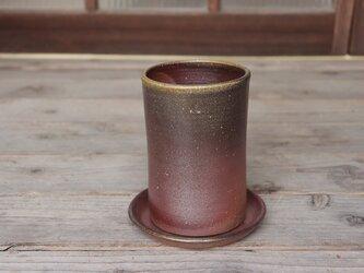 備前焼 植木鉢【受皿付き】 u-039の画像