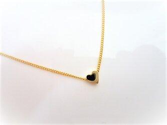 プチハートの上品で可愛いシンプルな1粒ネックレスの画像
