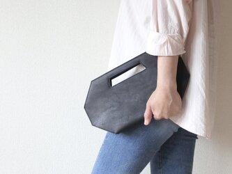 2wayバッグ 【8va clutch】 一枚革 総手縫い仕立の画像
