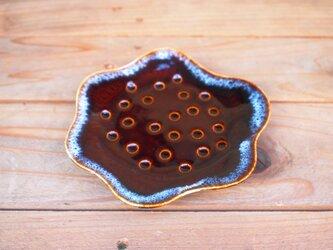 飴色 花皿の画像