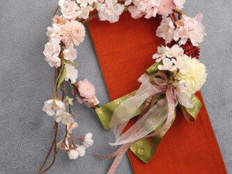 さくら。桜リースの画像