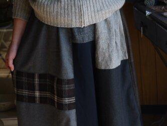 ウール色々パッチワークパンツの画像