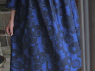 久留米絣反物からタックワンピースの画像