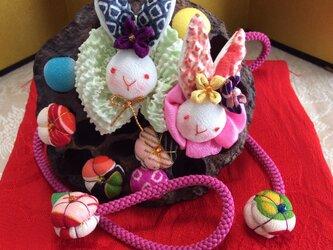 ♪蓮の実雛飾り(ご予約品)の画像