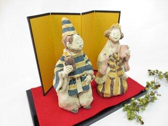 紺×黄 -立ち雛人形-の画像