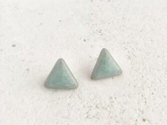 Triangle : 亀甲釉 : ピアス/イヤリングの画像