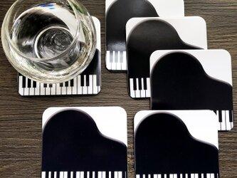 ピアノイラストのコースター♪の画像