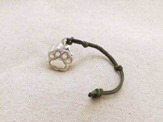 銀製の鈴 『 にくきゅうぅ~♡ 』 (シルバー925) 根付・バッグチャームの画像
