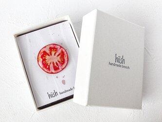 トマトのブローチ(ボックス入り)の画像