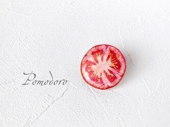 トマトのタックピン(ボックス入り)の画像