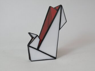ステンドグラス 折鶴の画像